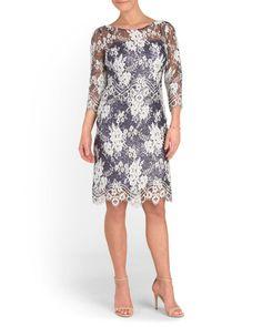 Bi-Tone Lace Over Sequin Dress