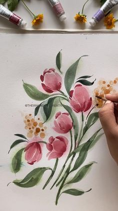Learn to paint watercolour florals in my skillshare classes in real time, follow the link to watch for free :) Music : She's the Moon, Musician : Carl Storm Watercolor Flowers Tutorial, Flower Tutorial, Floral Watercolor, Floral Drawing, Water Colour Tutorial, Flower Drawing Tutorials, Watercolour Flowers, Flower Drawings, Watercolor Plants