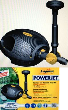 Other Ponds and Water Features 57230: Laguna Powerjet 1350Gph Fountain Waterfall Pump Kit For Ponds, New Version -> BUY IT NOW ONLY: $143.78 on eBay!