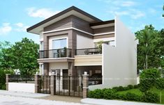 PLAN DESCRIPTION Mateo model is a four bedroom two story house plan that can conveniently be constructed in a 150 sq. lot having a minimum of 10 meters lot width Two Story House Design, Modern Small House Design, 2 Storey House Design, Modern Exterior House Designs, Simple House Design, House Front Design, Minimalist House Design, Modern House Plans, Two Story Houses