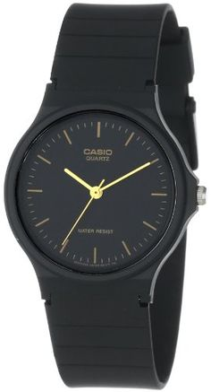 The basic black-and-gold design of the Casio Men's Analog Watch makes it a simple, versatile timepiece great for everyday wear. The watch is cons ... $8.49