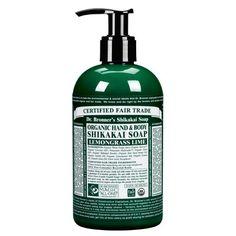 Dr. Bronner Organic Shikakai Lemongrass Hand Soap (355ml)