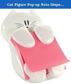 Cat Figure Pop-up Note Dispenser 3x3 inch Kitty Lover Office Gadget. Holds 3 inch x 3 inch Post-it Notes Fun dispenserUnique design to personalize your workspaceConvenient one-handed dispensing keeps notes at your fingertips.Pack includes dispenser and one 3 inch x 3 inch pad of Pop-up Notes (pad colors may vary)Brand Name: Post-itItem Weight: 1.3 poundsProduct Dimensions: 4.5 x 4.4 x 3.4 inchesItem model number: CAT-330Color: WhiteMaterial Type: Abs polystyreneNumber of Items: 1Size…