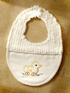 PDF Form Baby Bib Sewing...Embroidery ePattern...Duckies and Puppies