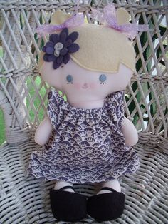 Custom made little doll for someone special at Christmas.