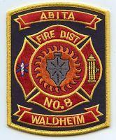 ABITA WALDHEIM LOUISIANA  FIRE PATCH