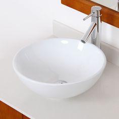 Found it at AllModern - Ceramic Round Bathroom Sink