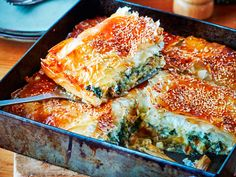 Nici Wickes' spinach and cheese pie recipe makes a substantial vegetarian lunch or dinner. It's super-convenient too as it can be assembled in the morning and cooked when you need it