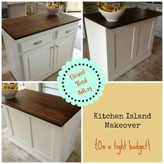 party feature - kitchen island makeover, The Serene Swede