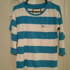 Abercrombie & Fitch long sleeve (221) Abercrombie & Fitch blue & white long sleeve Abercrombie & Fitch Tops Tees - Long Sleeve