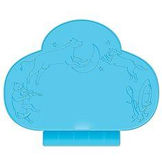 NUOLUX Tapis de Table infantile Silicone antidérapant de Set de table Portable (bleu)