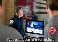 Otis: I've never seen him run before. Are they watching WWE? The Cw Shows, Tv Shows, Matt Casey Chicago Fire, Chigago Fire, Jesse Spencer, Chicago Shows, Chicago Med, Fire Department, Anastasia