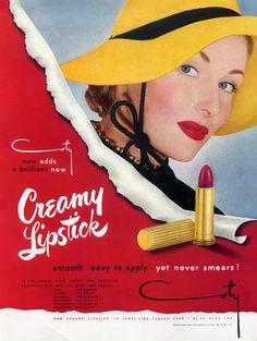 Coty (Cosmetics) 1949 Lipstick advert