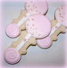 Pink Pearl Baby Rattles