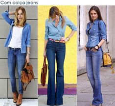 denim on denim Style Casual, Work Casual, Casual Chic, Casual Looks, Look Camisa Jeans, Salopette Jeans, Denim On Denim, Denim Shirt, Jean Outfits