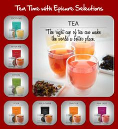 Amazing loose leaf teas from Epicure Selections!!!!