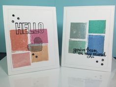 """""""Look at your stamps in a new way"""" cards made for the Craftsy Online Class by Catherine Pooler."""