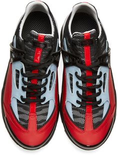 Kenzo: Red Sonic Sneakers | SSENSE