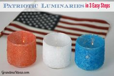 Make these patriotic luminaries in 3 easy steps.