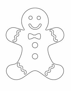 Kids Gingerbread Man Coloring Pages Christmas – Christmas Coloring