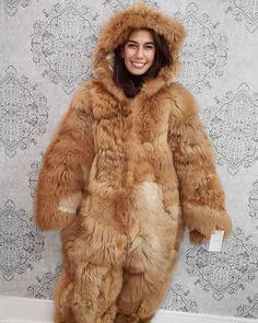Fur Fashion, Fashion Dolls, Bear Costume, Fur Clothing, Sheepskin Coat, New Fox, Snow Suit, Fox Fur, Pants For Women