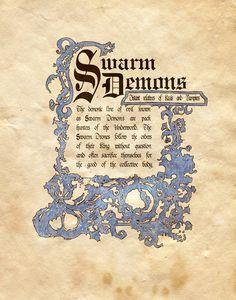 "Book of Shadows:  ""Swarns Demons,"" by Charmed-BOS, at deviantART."
