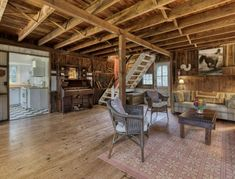 Part of this $996,000 multi-residence in Weshampton is a rustic barn built in 1915 with open great room with dining area, sunlit kitchen, two bedrooms, and one bath. Call Peggy Kisla, RE Salesperson, 516.446.1416 for a tour.   #rustic #barn #livingroom #luxuryrealestate #realestate #hamptonsrealestate #hamptons #westhampton #hamptonshouse #vacationhomes #realestateagent