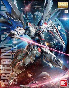 From the anime and manga series Mobile Suit Gundam Seed comes the MG Freedom Gundam Model Kit by Bandai. Gundam Seed, Diorama, Transformers, Gundam Wallpapers, Gundam Mobile Suit, Gundam 00, Super Robot, Gundam Model, Model Ships