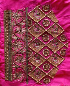 Kurti Embroidery Design, Embroidery Neck Designs, Hand Work Embroidery, Aari Embroidery, Cutwork Blouse Designs, Best Blouse Designs, Bridal Blouse Designs, Hand Work Blouse Design, Aari Work Blouse