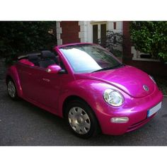 A girl can dream right?? I LOVE this Hot Pink Beetle...and it would be so cute since I sell Thirty-One!!!!