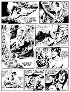 russ manning tarzan comic strip | ... Rice Burroughs, Rex Maxon, Hal Foster, Burne Hogarth, Russ Manning