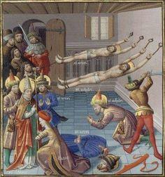 The Drama of The Christianity  Martyrdoms, Maître François - Illuminator; manuscript - 1463