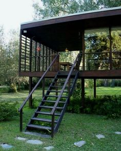 Aegean Pool House by Lake House On Stilts, Tiny House Cabin, Container Architecture, Architecture Design, Thai House, Casas Containers, Container House Design, Prefab Homes, Beautiful Homes