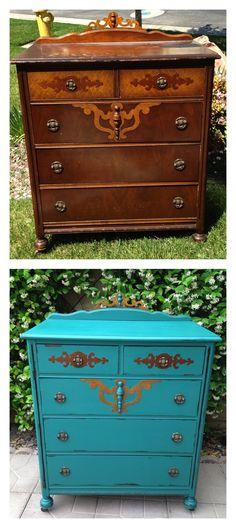 1000 images about vintage dresser diy on pinterest refurbished furniture vintage office and for Refurbished bedroom furniture