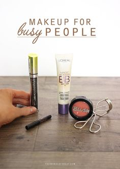 When I need to beautify my face in a rush, there are always a few staple products that I rely on to get the job done quickly. My normal makeup routine can take just 5 minutes with these simple products and I still manage to look put together (or, like I at least tried!). It really doesn't tak