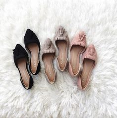 Pointy toe flats are definitely on the list.