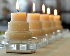 wedding cake candles....