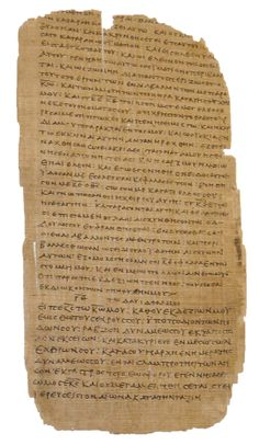 This Bodmer Papyrus XXIV from Egypt (mid-2nd century AD) is a page from an extremely early near-complete codex, or book. It contains portions of Psalm 109 and Psalm 110 written in Greek (Psalms 108 and 109 in the Septuagint).