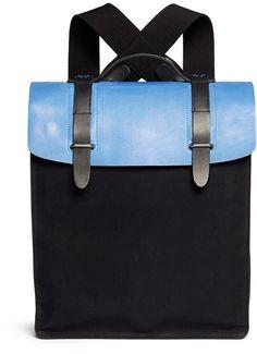 SEVENTY EIGHT PERCENT 'Esteban' leather canvas backpack