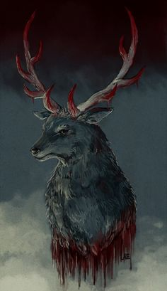 The Deer (Hannibal fanart) by LAEYELE on deviantART