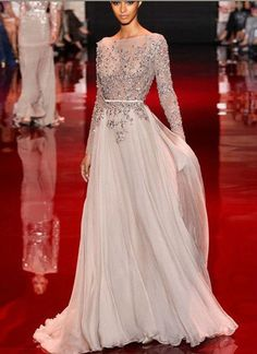 ec66e65f100 Hot Sale 2014 Evening Gowns High Neck Backless A Line Chiffon UK Prom  Dresses With Long