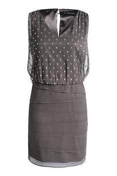 Esprit / Fließendes Seiden-Krepp-Chiffon Kleid