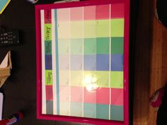 Easy Diy Calendar Ideas  Paint Sample Calendar Paint Swatch