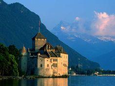 Chateau de Chillon-Vevey, Switzerland