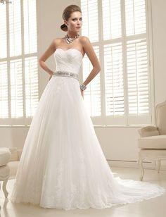 custom made sweetheart neckline elegant wedding dress