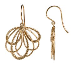 Gold scroll loops $39