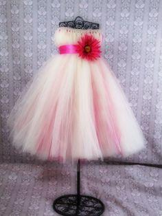 Daisy embelished tulle Tutu flower girl dress. $60.00, via Etsy.