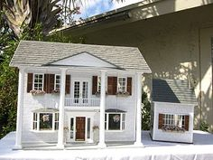Dollhouses by Robin Carey: The Southern Mansion Dollhouse with Summer Kitchen