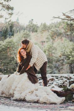 Una boda invernal con estilo folk-chic - All Lovely Party