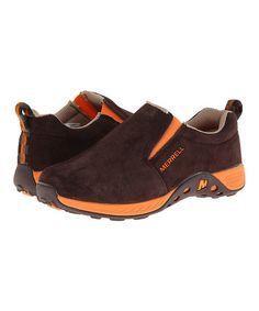 Look at this #zulilyfind! Brown & Orange Jungle Moc-Sport Suede Slip-On Sneaker #zulilyfinds
